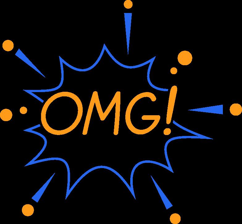 omg line Clipart illustration in PNG, SVG