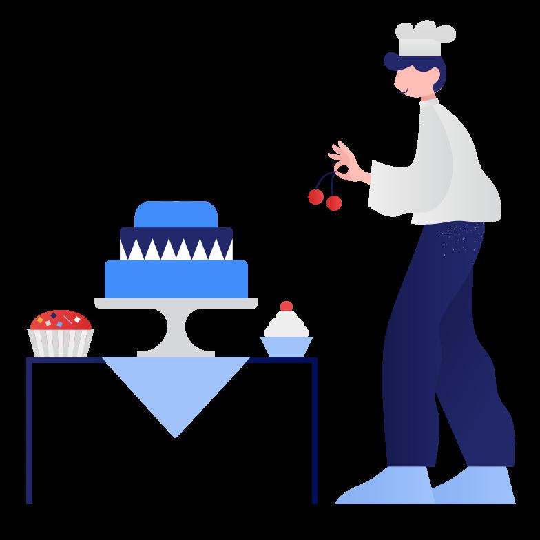 Confectioner Clipart illustration in PNG, SVG