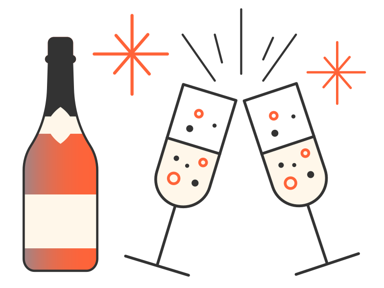 Christmas party Clipart illustration in PNG, SVG