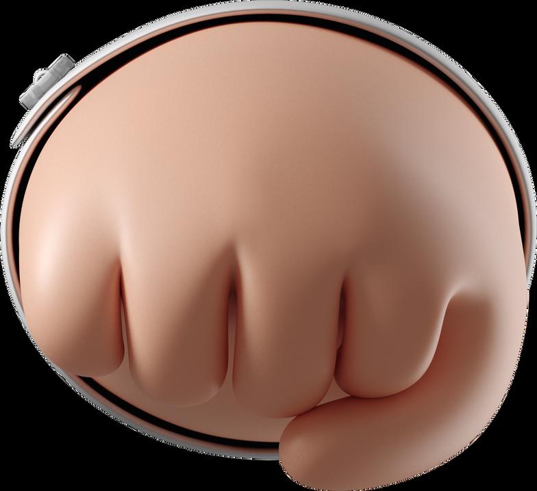 Ilustración de clipart de puño que se aproxima en PNG, SVG