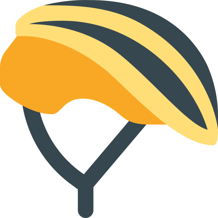 cyclist helmet yellow Clipart illustration in PNG, SVG