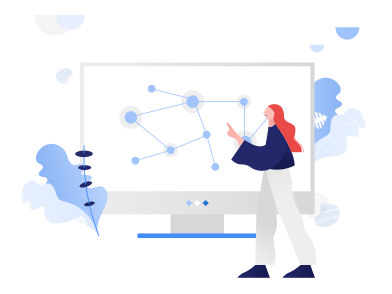 style Woman presenting a graph images in PNG and SVG | Icons8 Illustrations