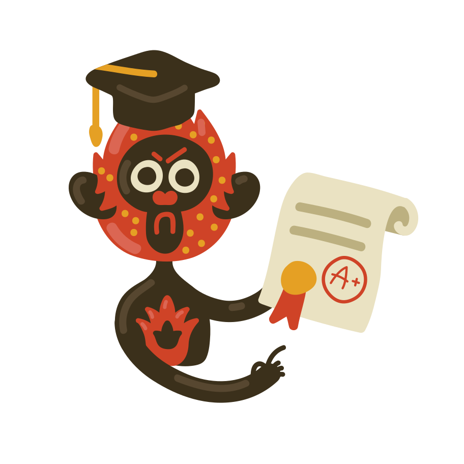 Angry graduate Clipart illustration in PNG, SVG