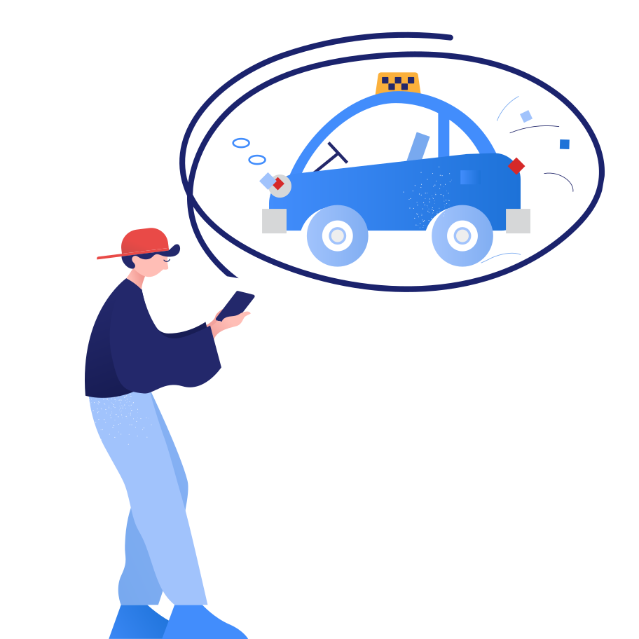 Waiting for taxi Clipart illustration in PNG, SVG