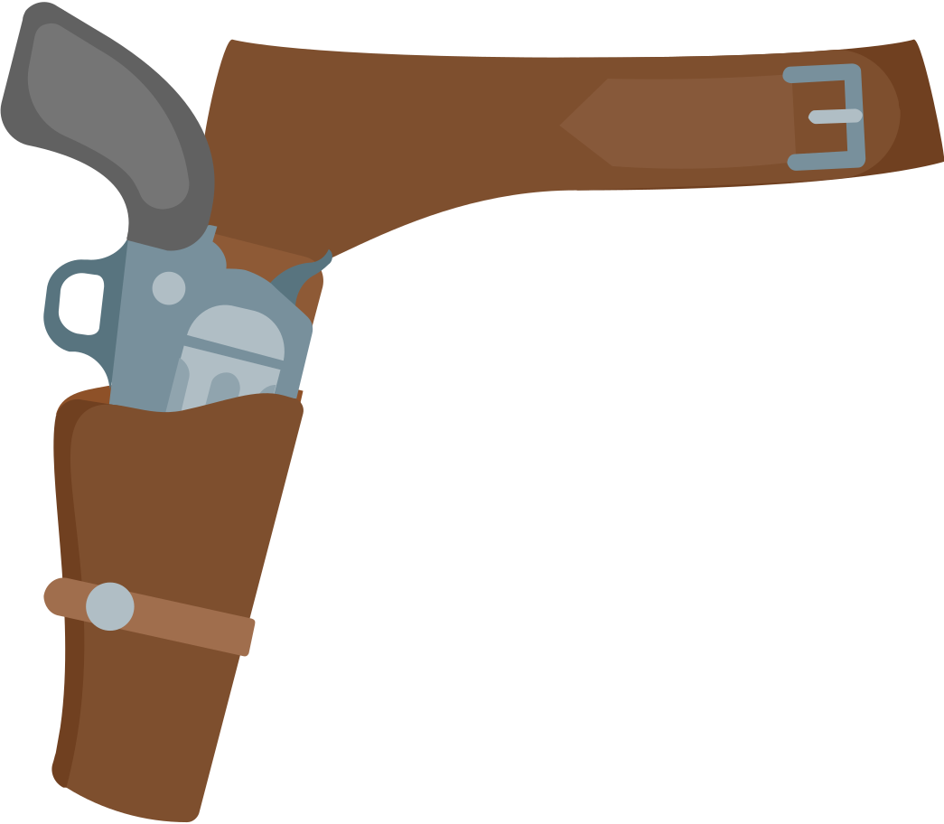 style revolver holster Vector images in PNG and SVG | Icons8 Illustrations