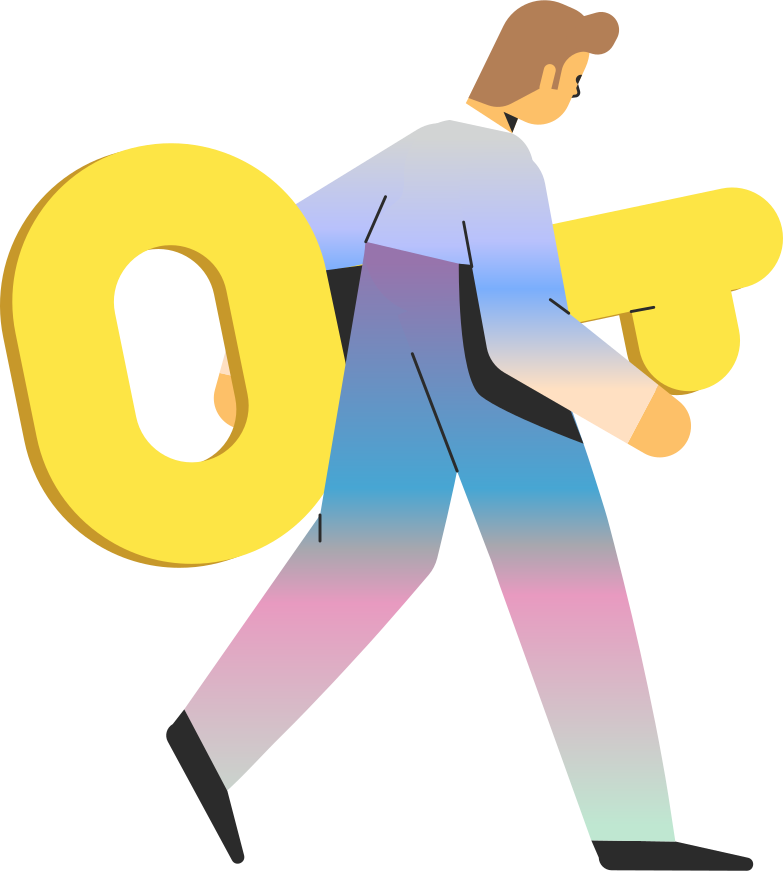 man with key Clipart illustration in PNG, SVG