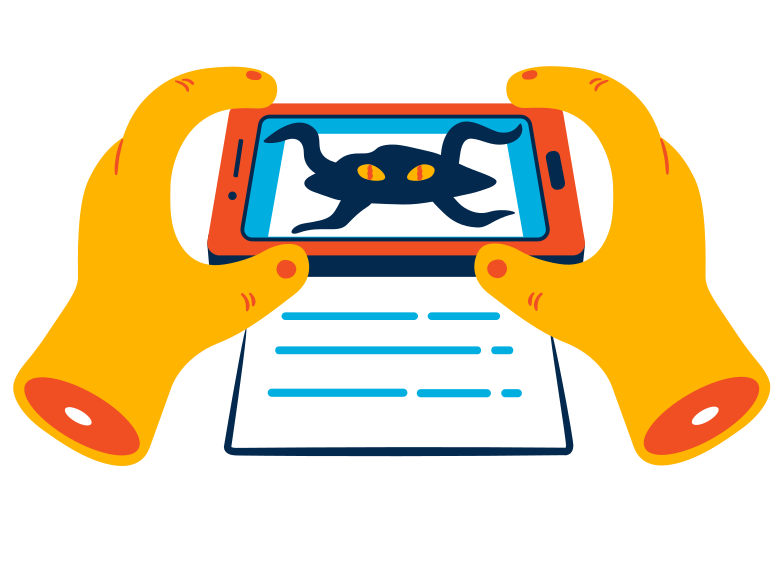 style Augmented reality in the phone Vector images in PNG and SVG | Icons8 Illustrations