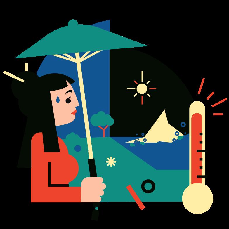 Global warming Clipart illustration in PNG, SVG