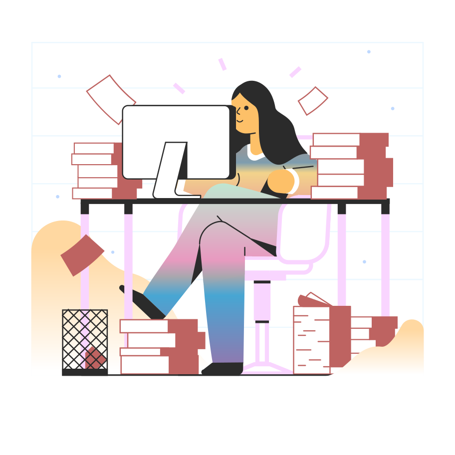 Productive work Clipart illustration in PNG, SVG