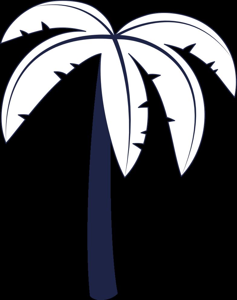 message sent  palm tree 1 line Clipart illustration in PNG, SVG