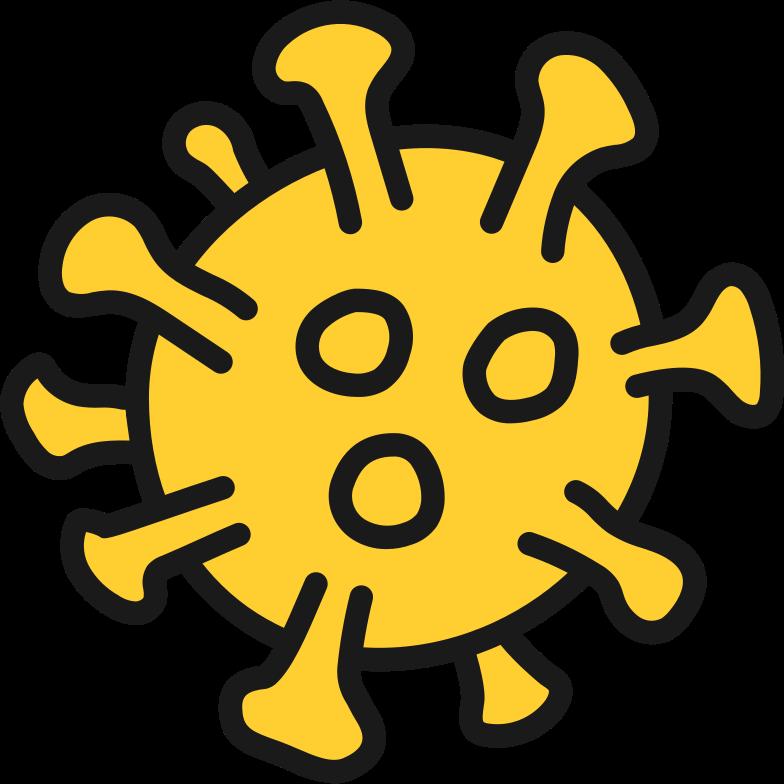 coronavirus molecule small Clipart illustration in PNG, SVG