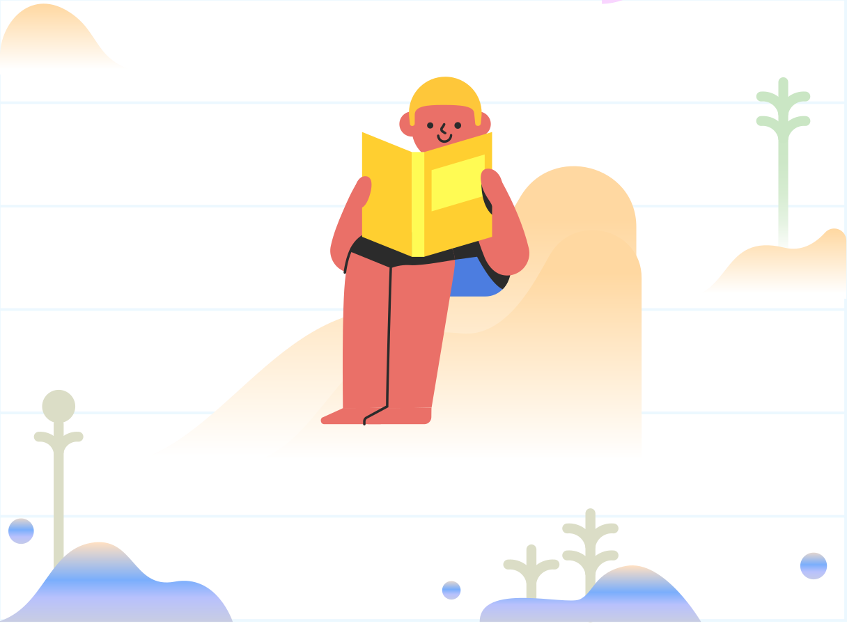 Reading book Clipart illustration in PNG, SVG