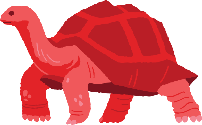 giant tortoise standing Clipart illustration in PNG, SVG