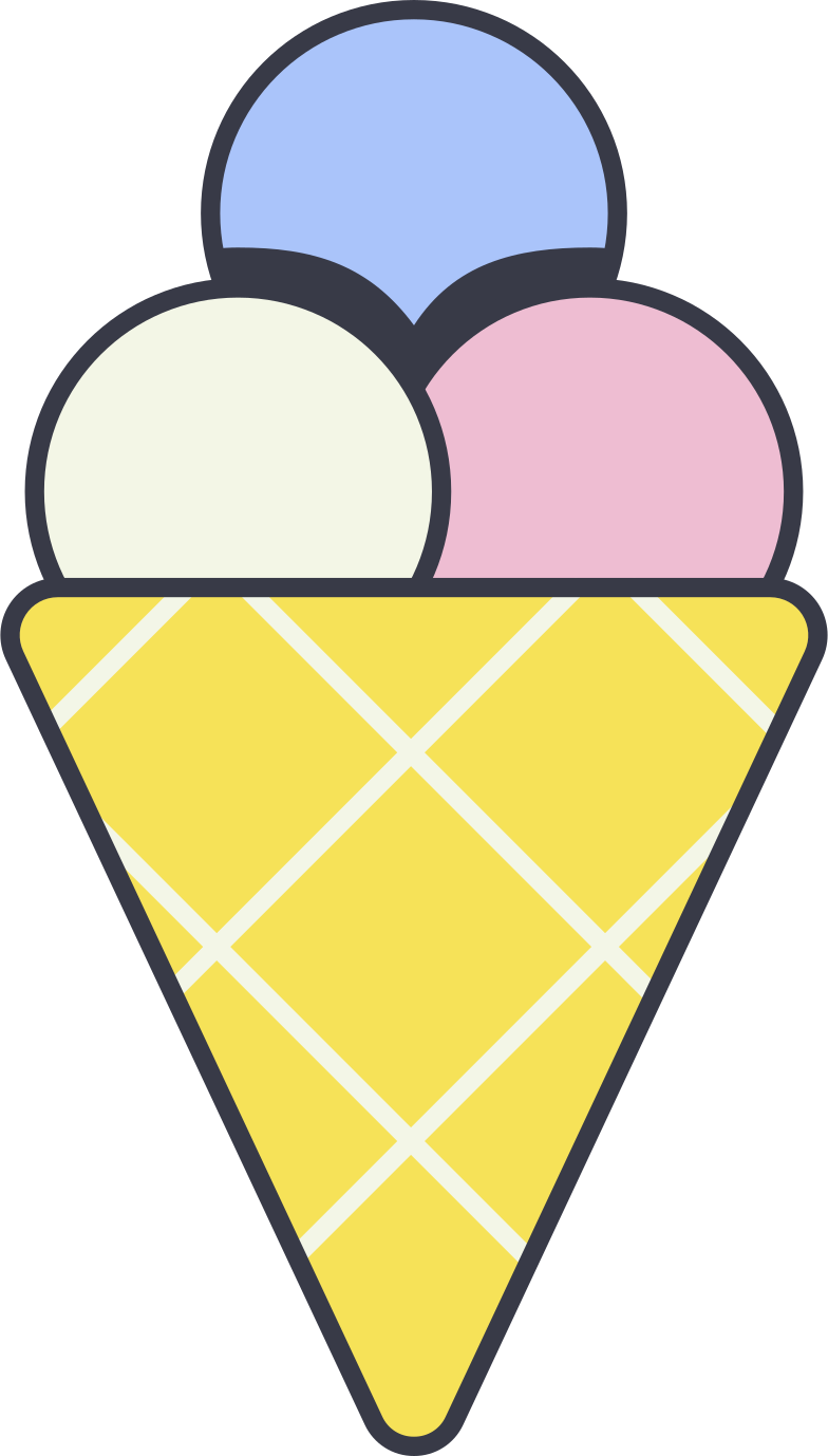icecream cone Clipart illustration in PNG, SVG