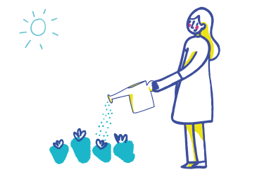 style Watering flowers images in PNG and SVG | Icons8 Illustrations