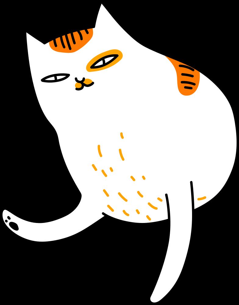 half cat Clipart illustration in PNG, SVG