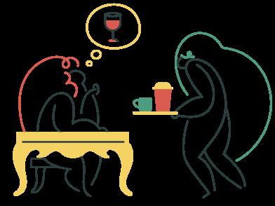 Иллюстрация Мечтаю о вине в стиле  в PNG и SVG | Icons8 Иллюстрации