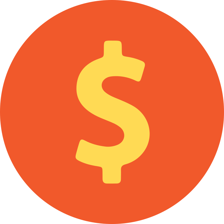 dollar coin Clipart illustration in PNG, SVG