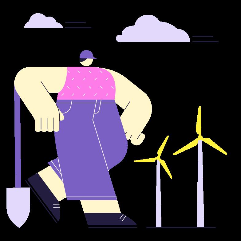 Landing New Energy Clipart illustration in PNG, SVG
