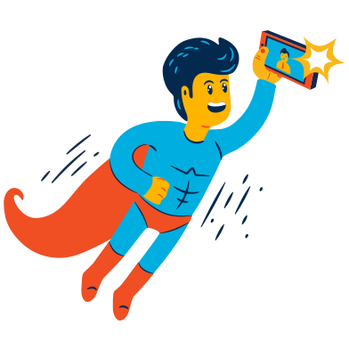 style Superhero selfie images in PNG and SVG | Icons8 Illustrations