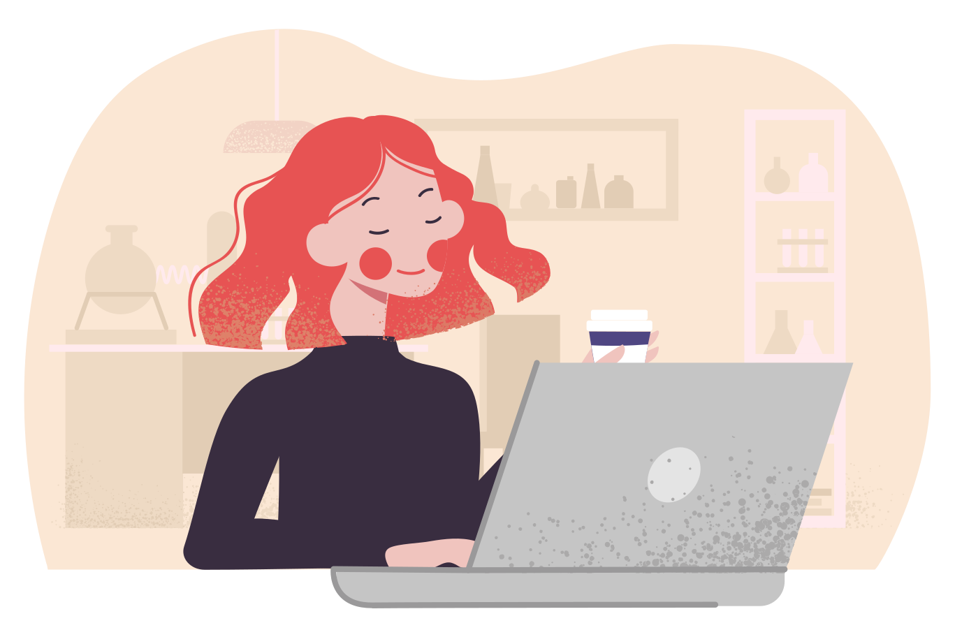 style Enjoying remote work Vector images in PNG and SVG | Icons8 Illustrations