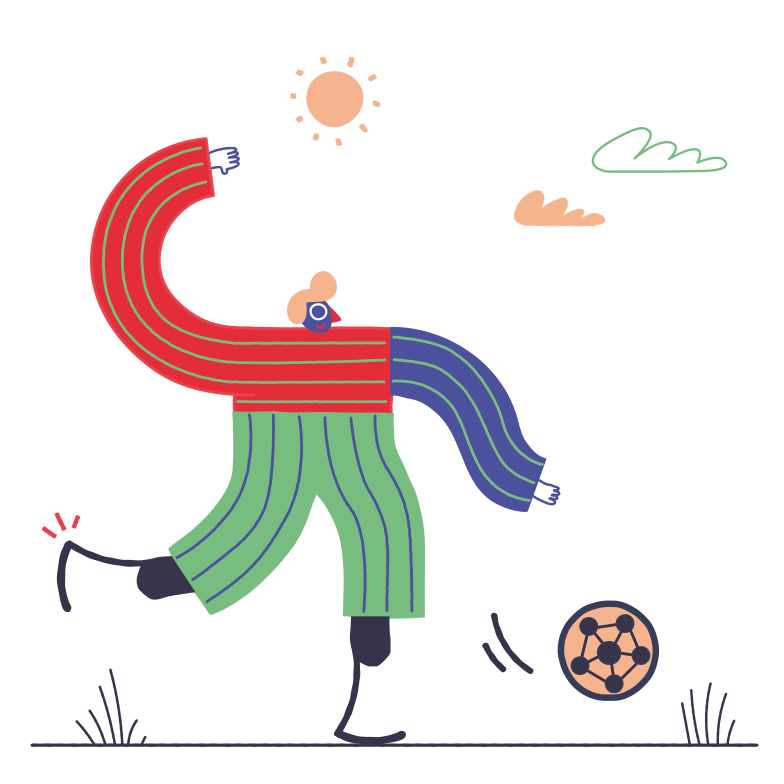 style Playing football Vector images in PNG and SVG | Icons8 Illustrations