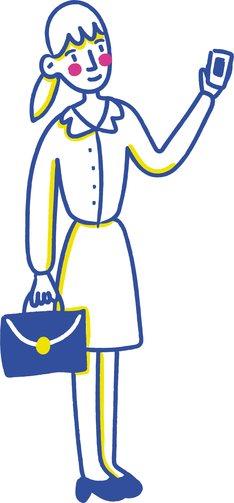 businesswoman mobile Clipart illustration in PNG, SVG