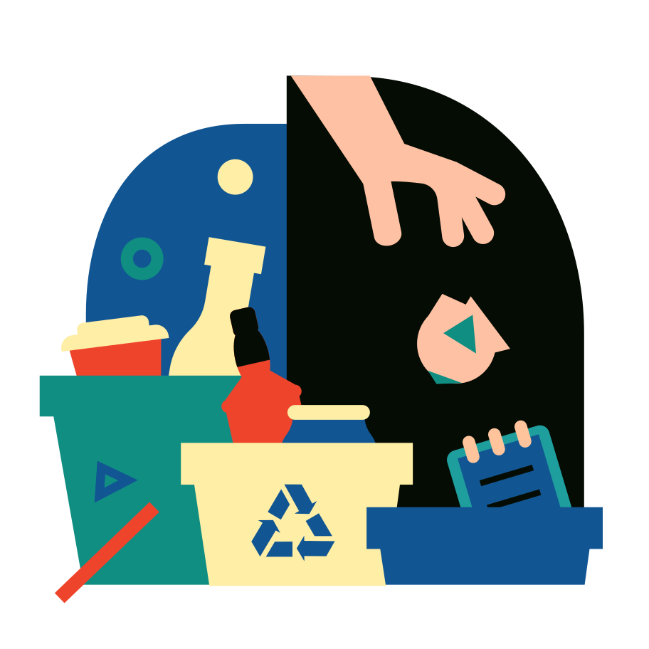 style Sorting garbage Vector images in PNG and SVG | Icons8 Illustrations