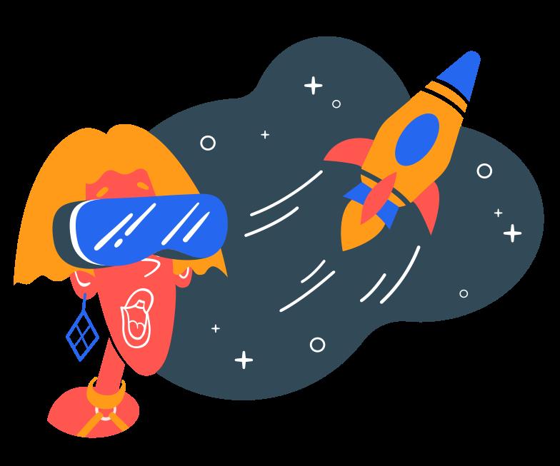 VR planetarium Clipart illustration in PNG, SVG