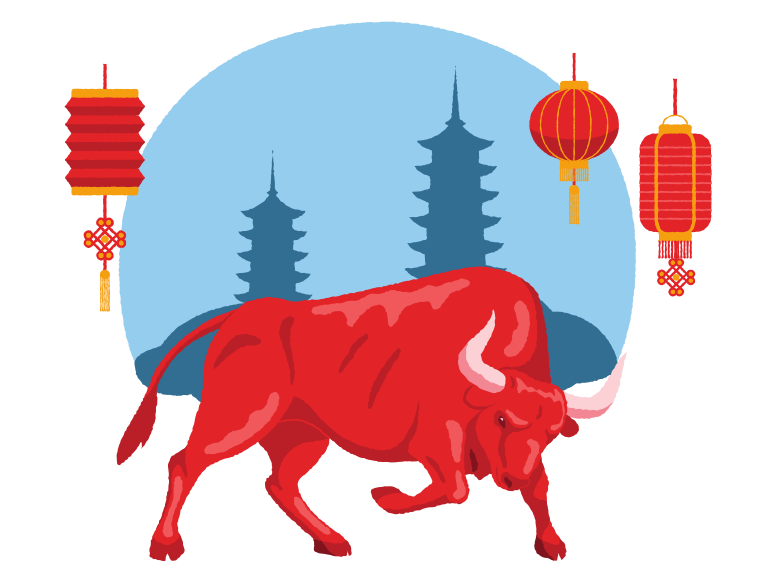 style Chinese Ox Year Vector images in PNG and SVG | Icons8 Illustrations