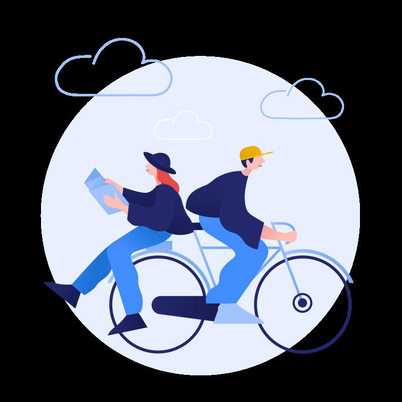 Spending time together Clipart illustration in PNG, SVG