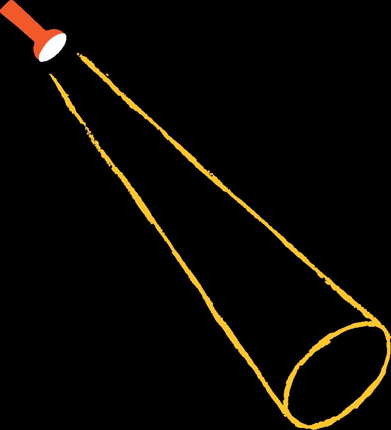 flashlight Clipart illustration in PNG, SVG