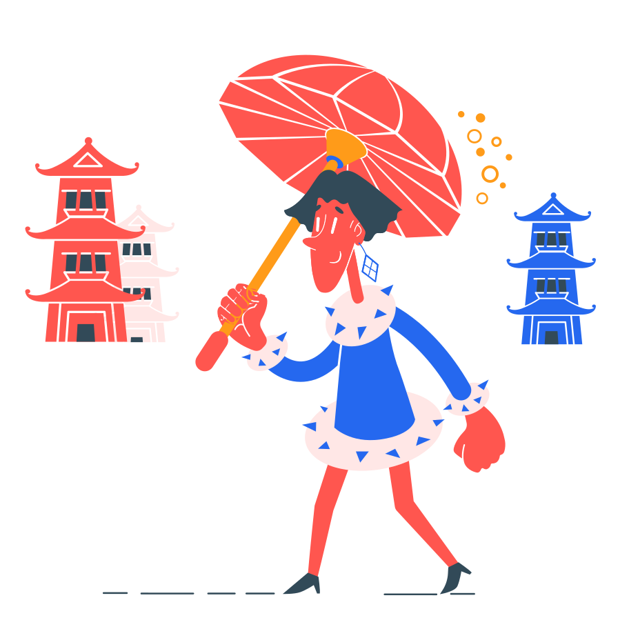 Walking Clipart illustration in PNG, SVG