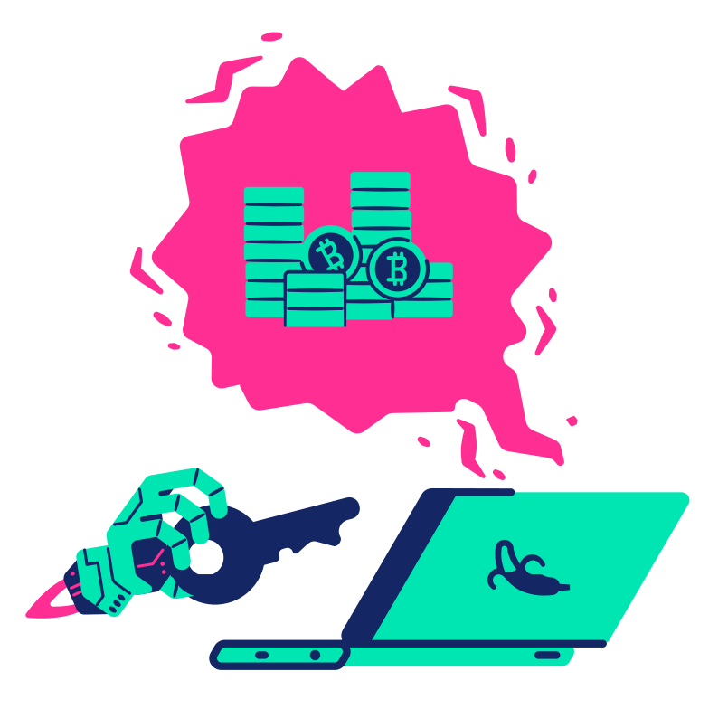 Laptop hacking Clipart illustration in PNG, SVG