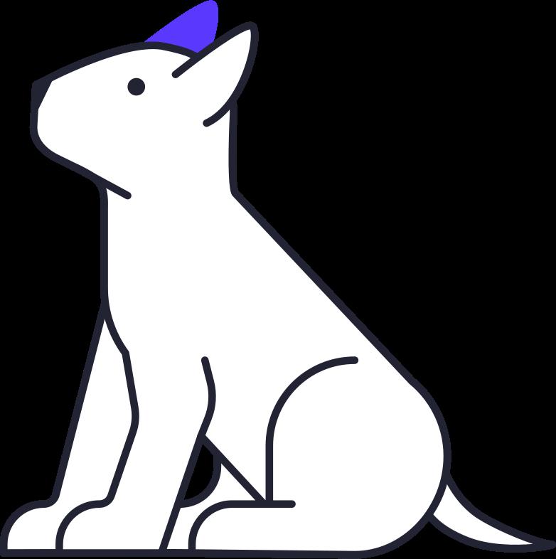 dog bull terrier Clipart illustration in PNG, SVG