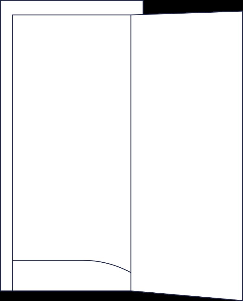 open door line Clipart illustration in PNG, SVG