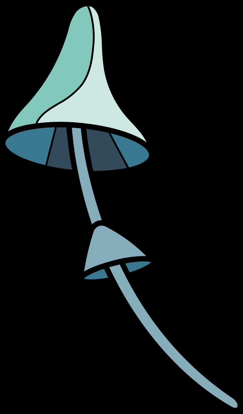 mushroom blue Clipart illustration in PNG, SVG