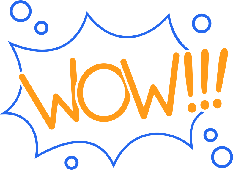 wow line Clipart illustration in PNG, SVG