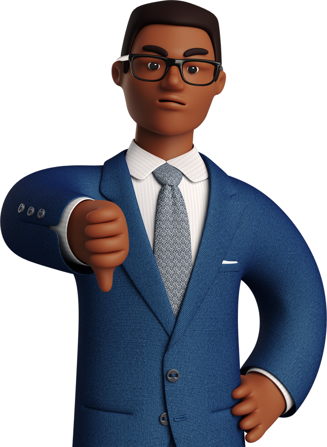 thumb down man Clipart illustration in PNG, SVG