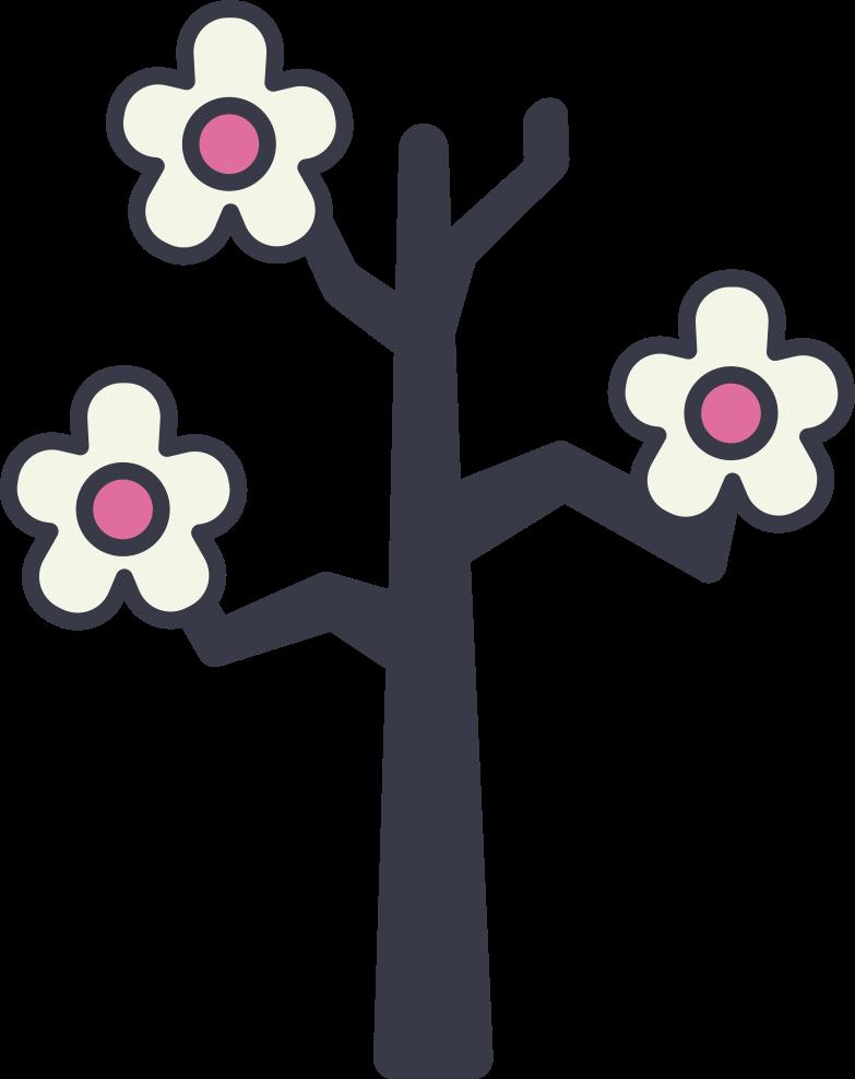 sakura branch Clipart illustration in PNG, SVG