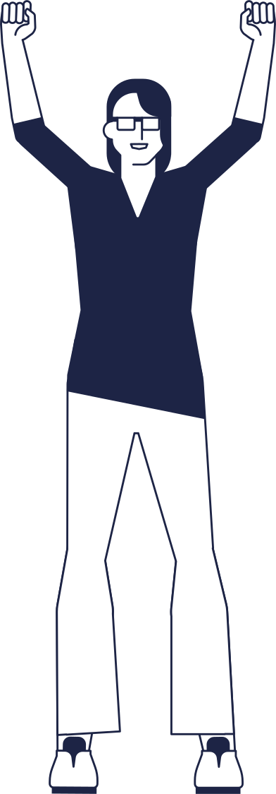 style woman with hands up images in PNG and SVG | Icons8 Illustrations