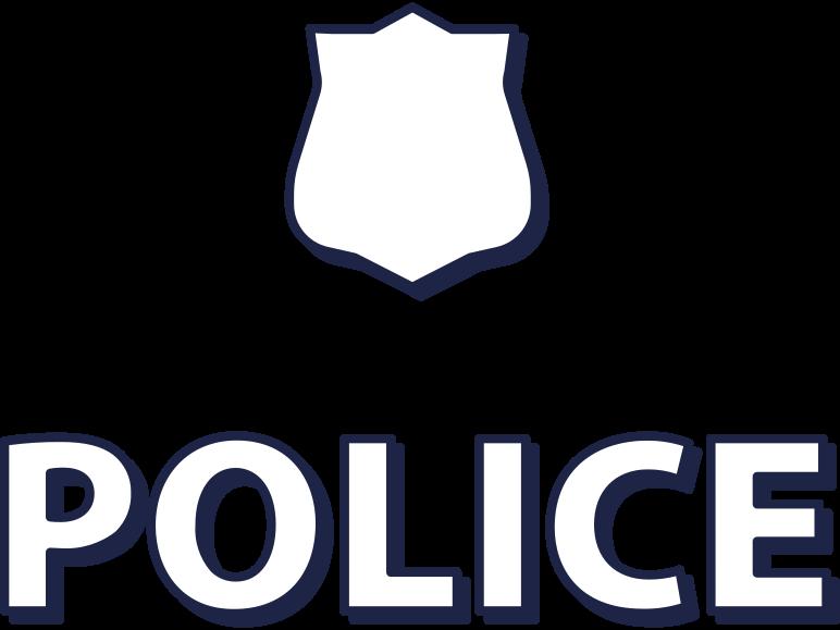police sign Clipart illustration in PNG, SVG