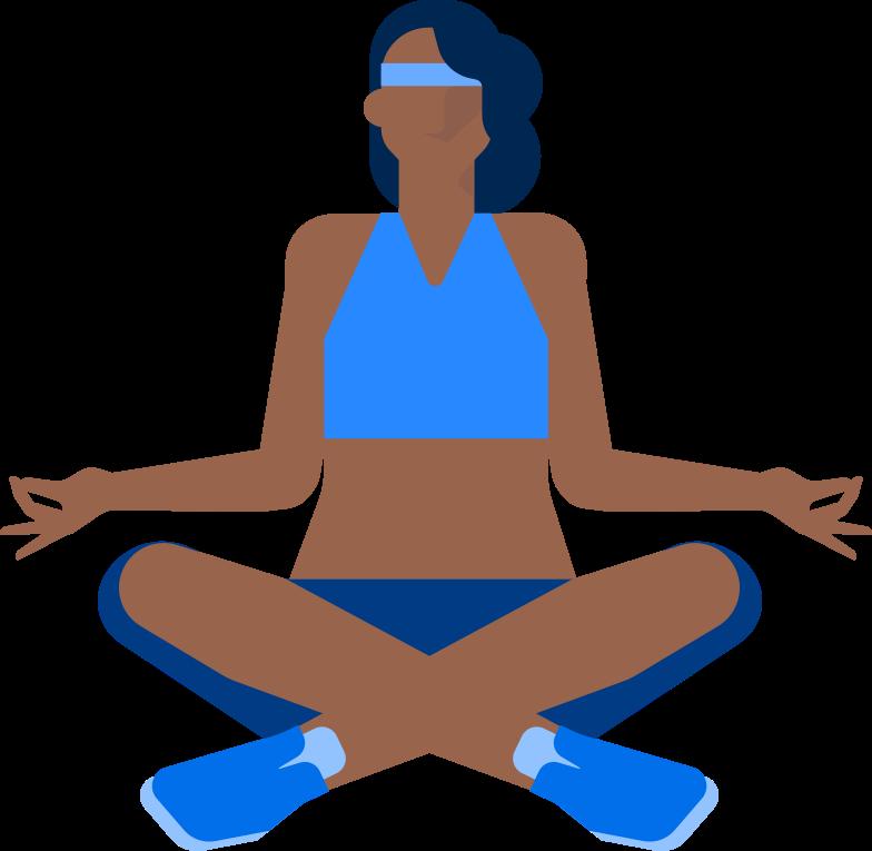 yoga woman Clipart-Grafik als PNG, SVG