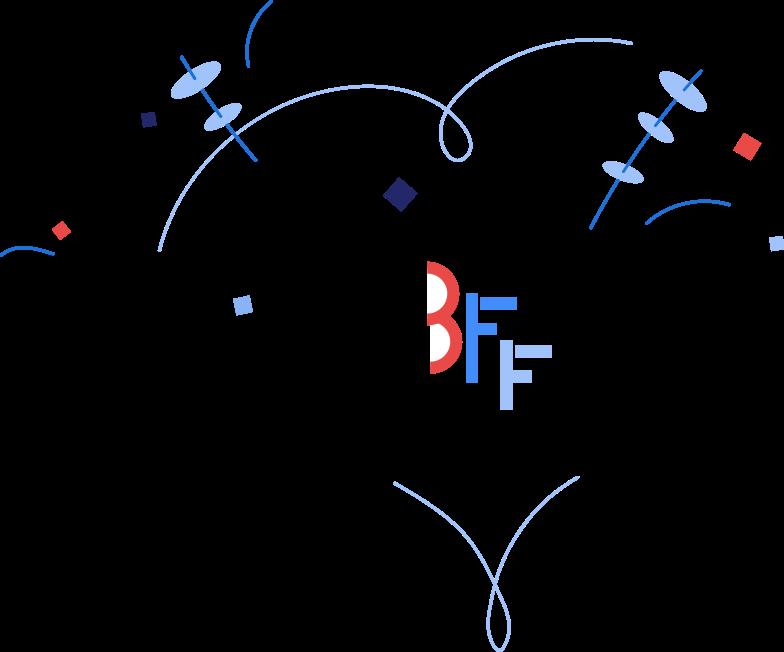 best friends forever Clipart illustration in PNG, SVG