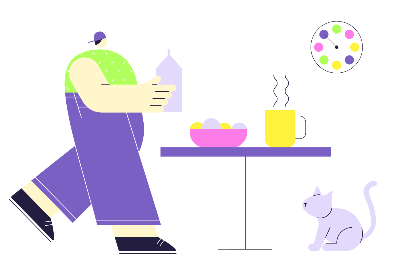 Breakfast with a friend Clipart illustration in PNG, SVG