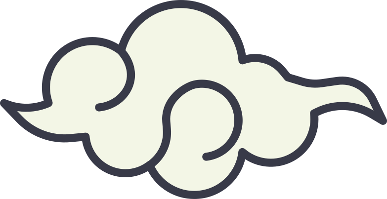 asian cloud Clipart illustration in PNG, SVG