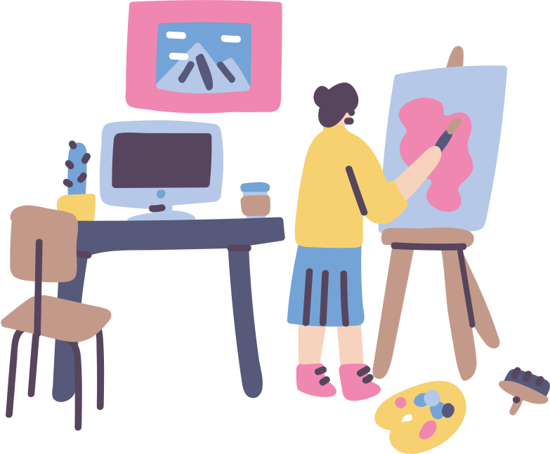 style Artist workspace Vector images in PNG and SVG | Icons8 Illustrations