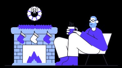 Иллюстрация Уютный зимний вечер в стиле  в PNG и SVG | Icons8 Иллюстрации
