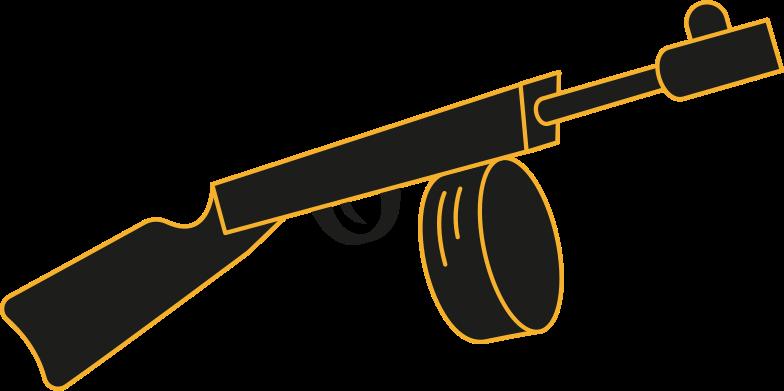 machine gun Clipart illustration in PNG, SVG