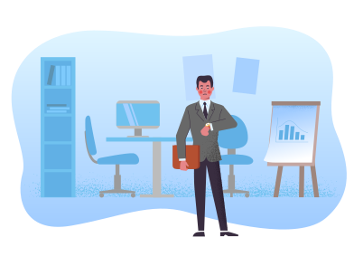 style Businessman at the office images in PNG and SVG | Icons8 Illustrations